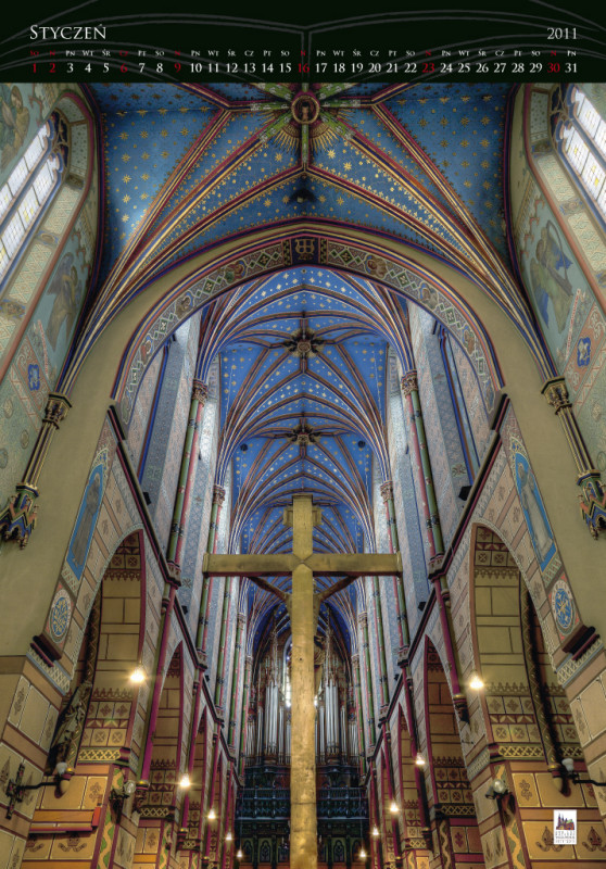 600th anniversary of the Cathedral - calendar, january