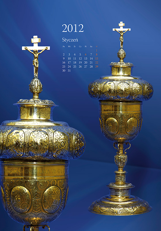 Treasures of Cathedral - calendar, january