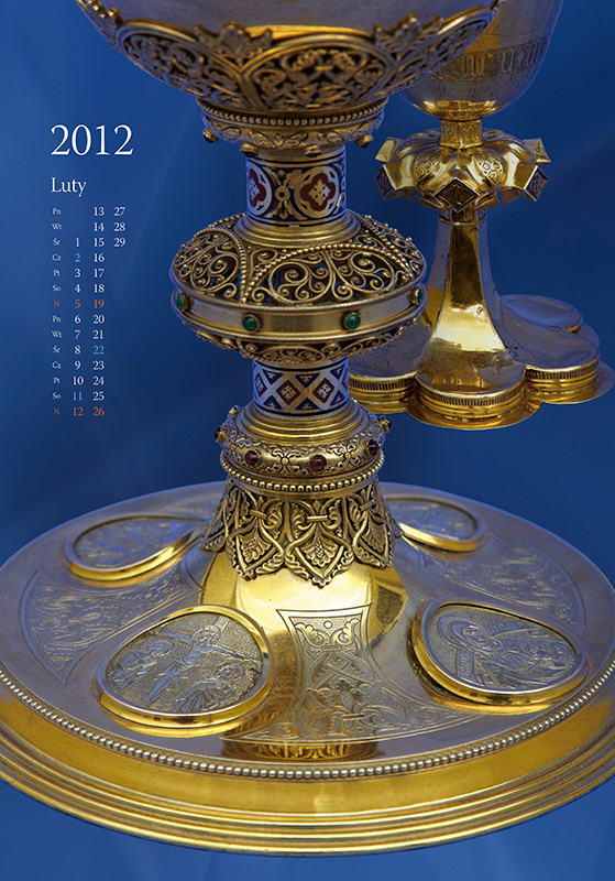 Treasures of Cathedral - calendar, february