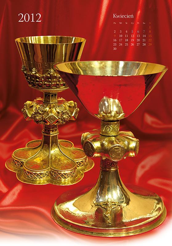 Treasures of Cathedral - calendar, april