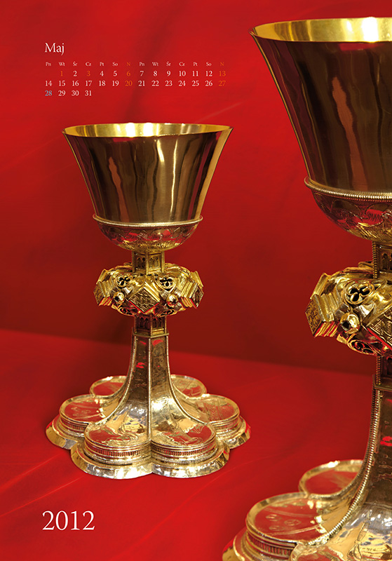 Treasures of Cathedral - calendar, may